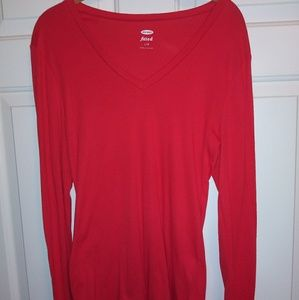 Old Navy v-neck fitted tee size Large